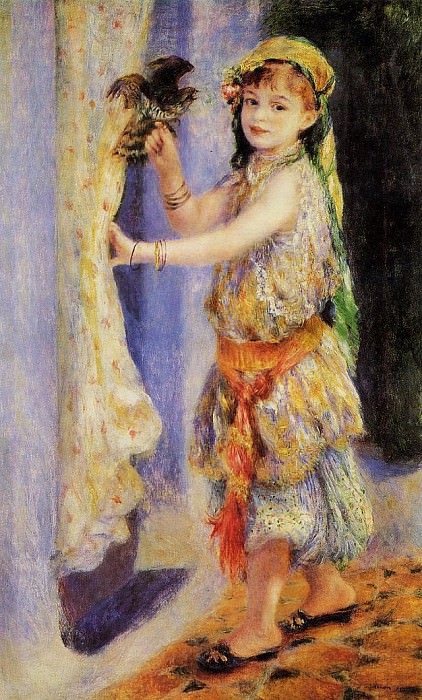 Girl with Falcon - 1880. Pierre-Auguste Renoir