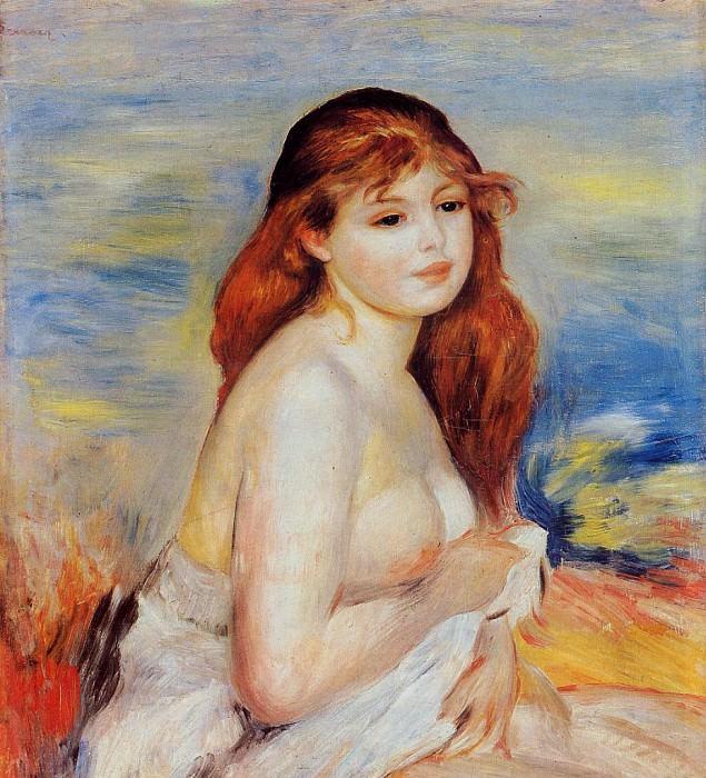 Bather - 1887. Пьер Огюст Ренуар