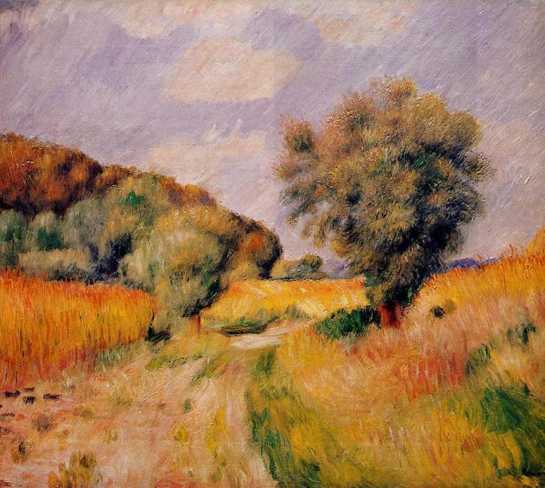 Fields of Wheat - 1885. Pierre-Auguste Renoir