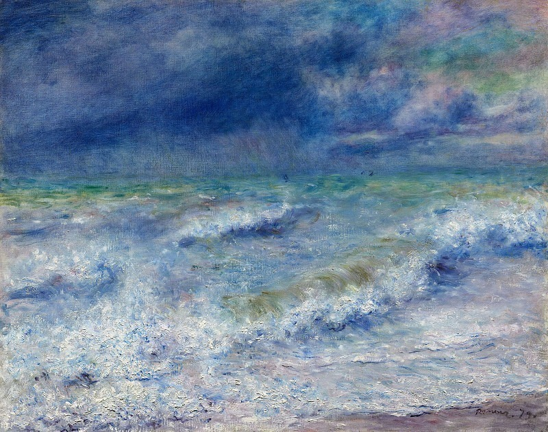 Seascape - 1879. Пьер Огюст Ренуар