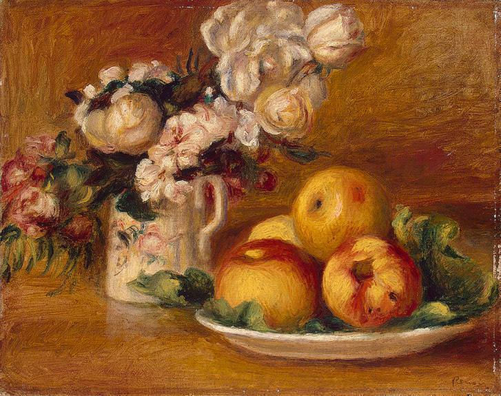 Apples and Flowers - 1895-1896. Pierre-Auguste Renoir
