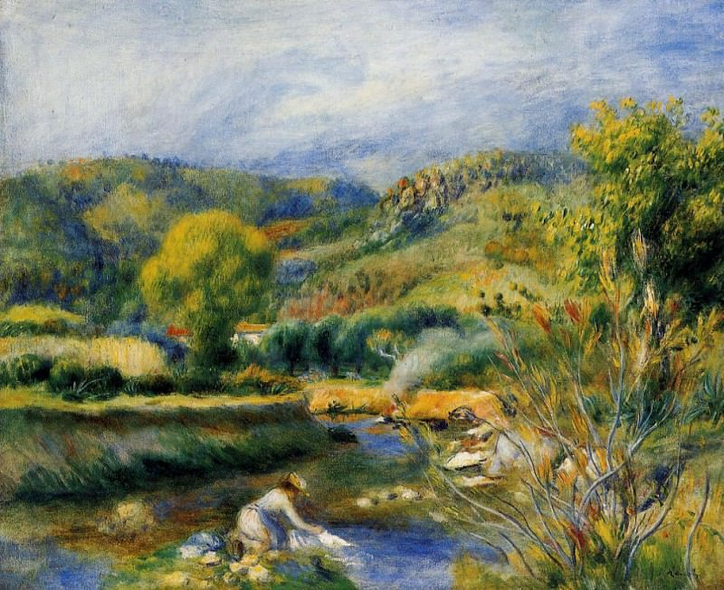 The Laundress - 1891. Pierre-Auguste Renoir