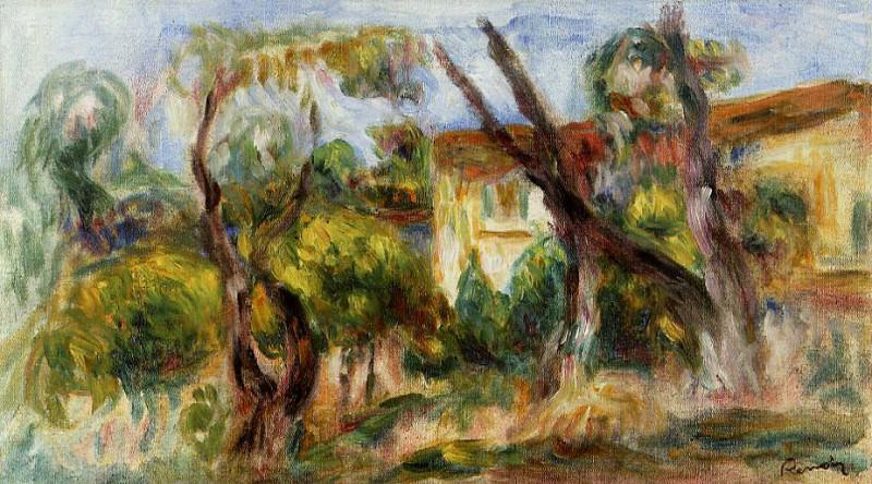 Landscape - 1910 -1914. Pierre-Auguste Renoir