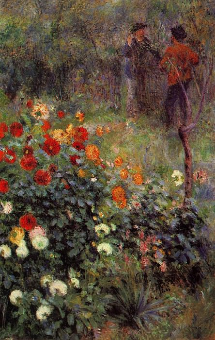 The Garden in the Rue Cortot at Montmartre - 1876. Pierre-Auguste Renoir