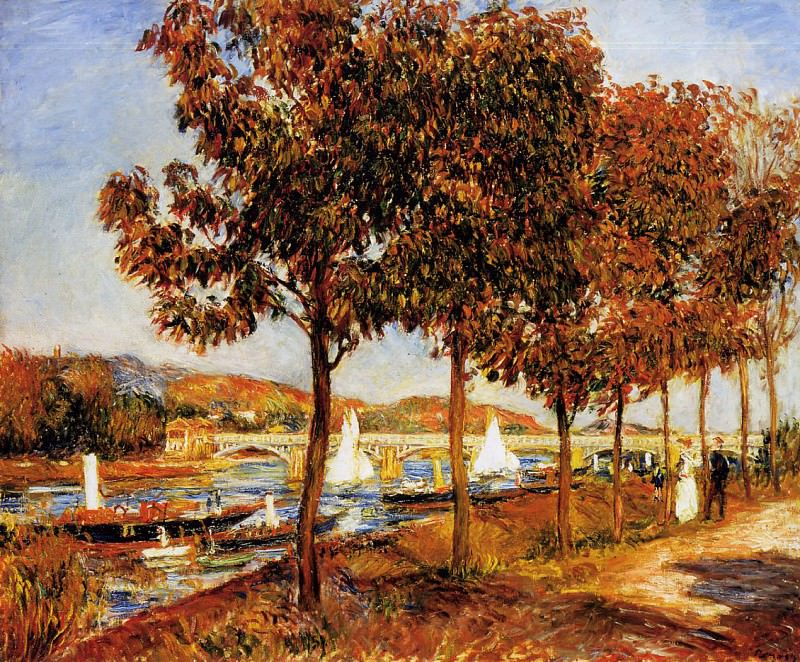 The Bridge at Argenteuil in Autumn - 1882. Pierre-Auguste Renoir