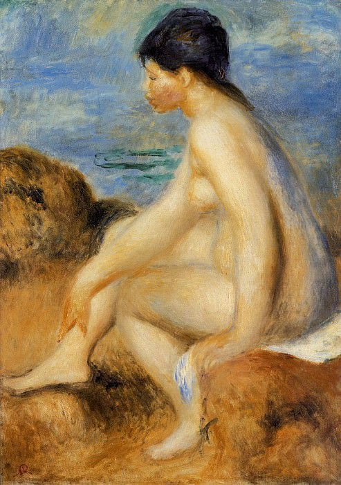 Bather - 1892-1893. Pierre-Auguste Renoir