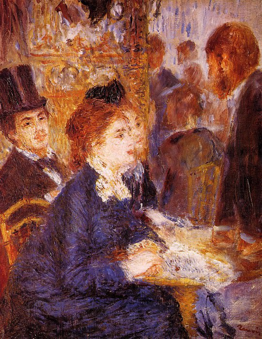 At the Cafe - 1876-1877. Pierre-Auguste Renoir