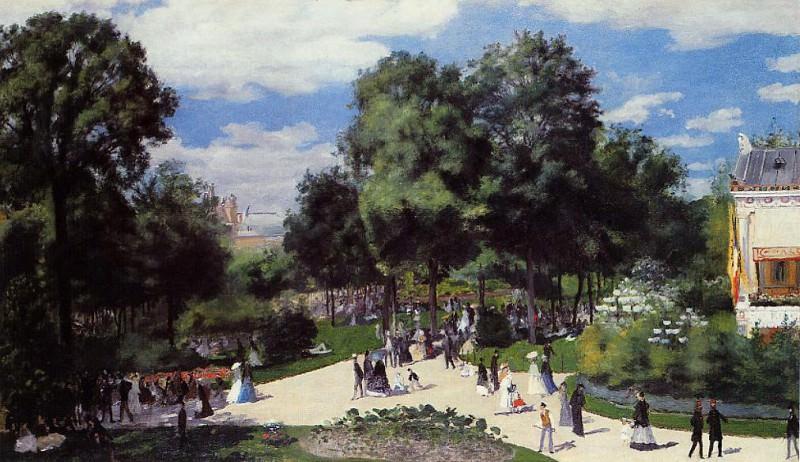 The Champs-Elysees during the Paris Fair of 1867. Pierre-Auguste Renoir