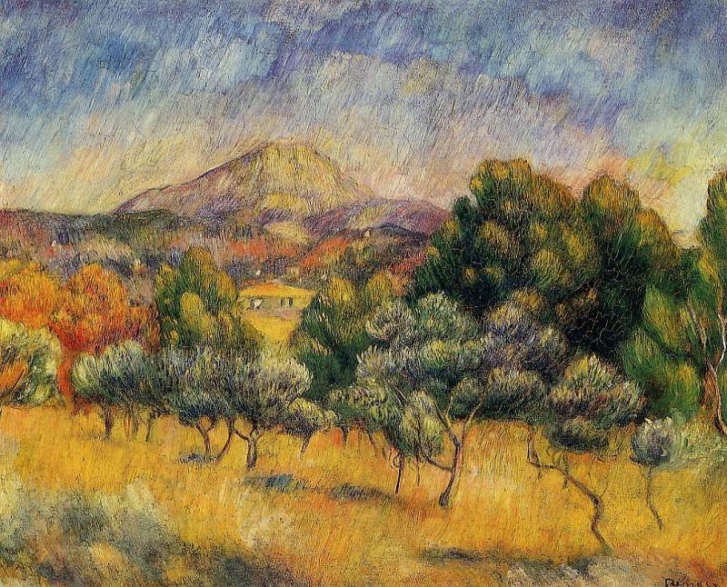 Mount Sainte-Victoire - 1888-1889. Пьер Огюст Ренуар