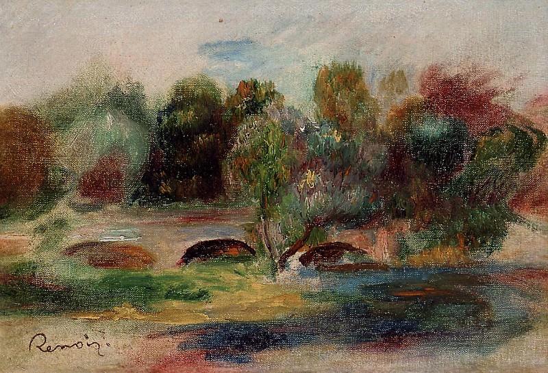 Landscape with Bridge - 1900. Pierre-Auguste Renoir