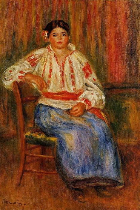 Young Roumanian - 1914 (Pr. C). Pierre-Auguste Renoir