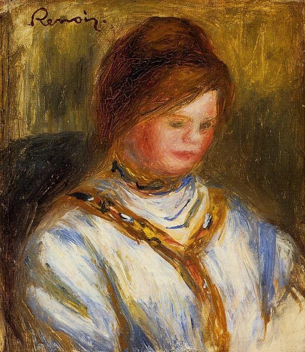 Woman in a Blue Blouse - 1906. Pierre-Auguste Renoir