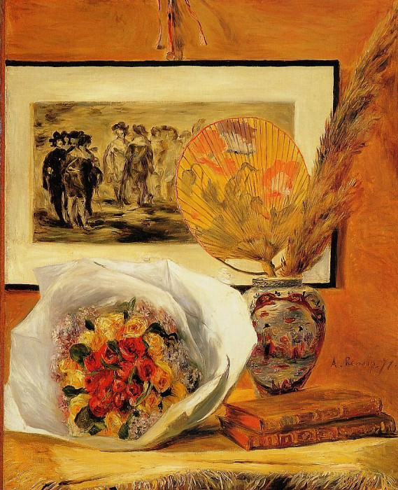 Still Life with Bouquet - 1871. Пьер Огюст Ренуар