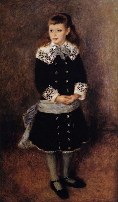 Marthe Berard (also known as Girl Wearing a Blue Sash) - 1879. Pierre-Auguste Renoir