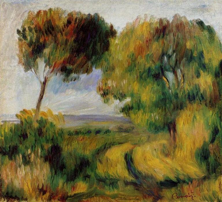 Breton Landscape - Trees and Moor - 1892. Pierre-Auguste Renoir
