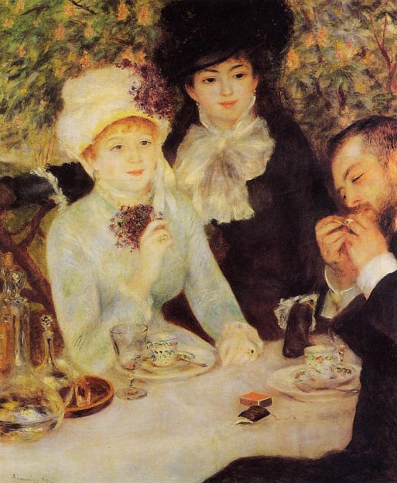 The End of Lunch - 1879. Pierre-Auguste Renoir