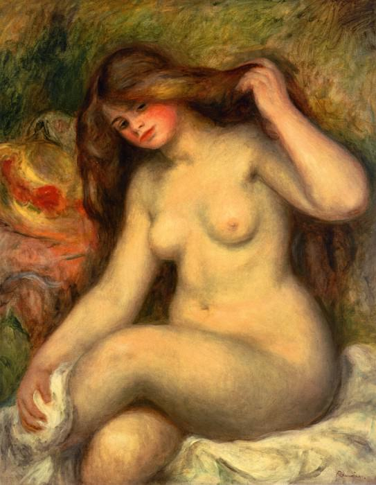 Large Bather with Crossed Legs - 1904. Пьер Огюст Ренуар