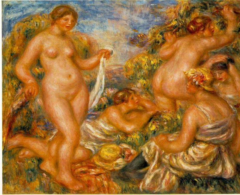 Bathers - 1918. Pierre-Auguste Renoir