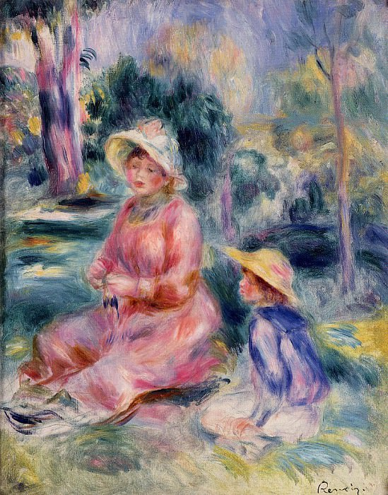 Madame Renoir and Her Son Pierre - 1890. Pierre-Auguste Renoir