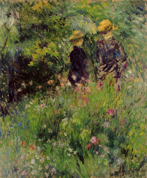 Conversation in a Rose Garden - 1876. Pierre-Auguste Renoir