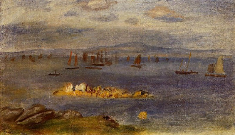 The Coast of Brittany, Fishing Boats - 1878. Pierre-Auguste Renoir