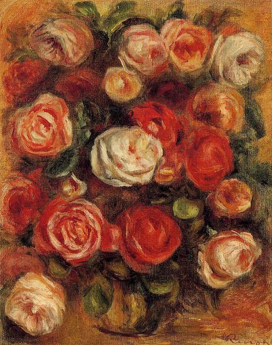 Vase of Roses. Pierre-Auguste Renoir