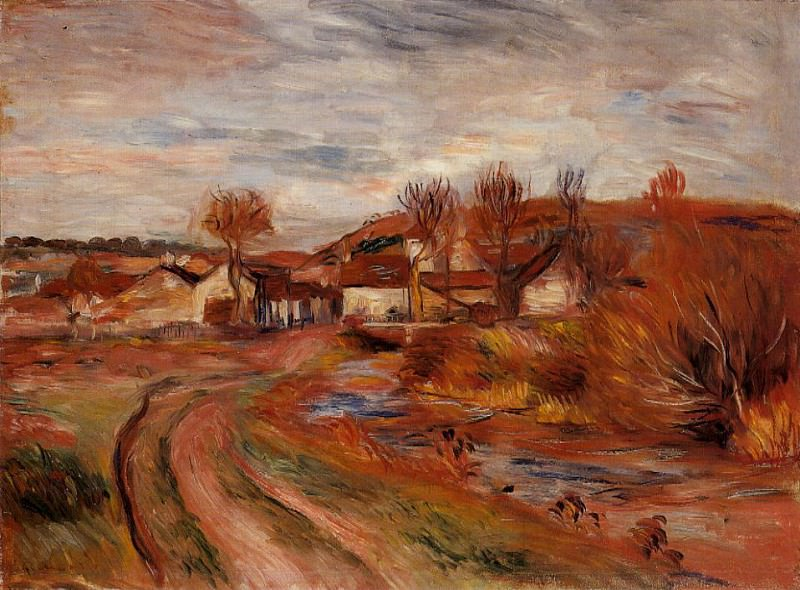 Landscape in Normandy - 1895. Pierre-Auguste Renoir
