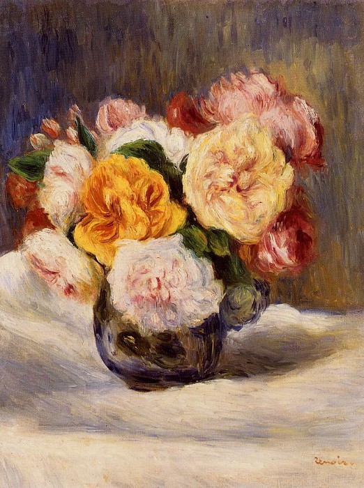 Bouquet of Roses - 1883. Pierre-Auguste Renoir
