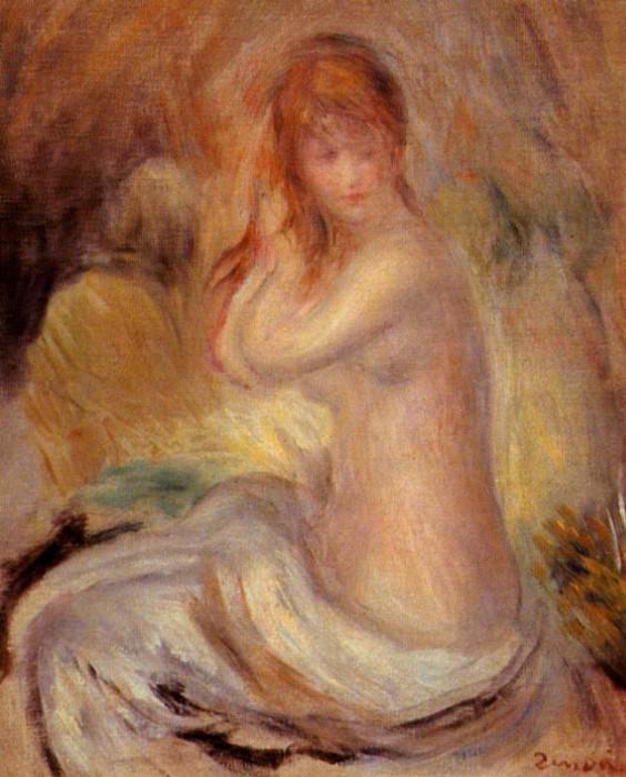 Bather - 1889. Pierre-Auguste Renoir