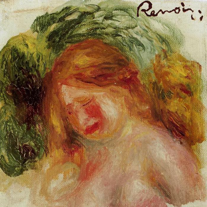Head of a Woman - 1918. Pierre-Auguste Renoir