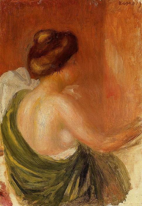 Seated Woman in a Green Robe - 1890. Pierre-Auguste Renoir