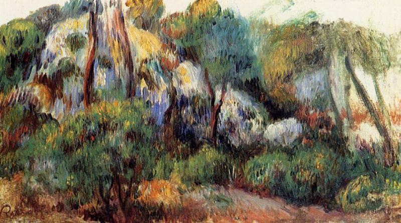 Purple Landscape - 1885. Пьер Огюст Ренуар