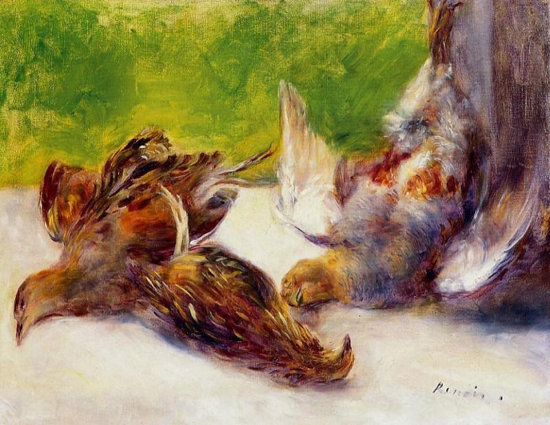 Three Partridges - 1880. Pierre-Auguste Renoir