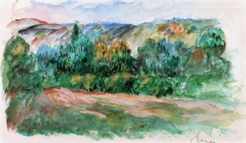 Essoyes Landscape. Pierre-Auguste Renoir