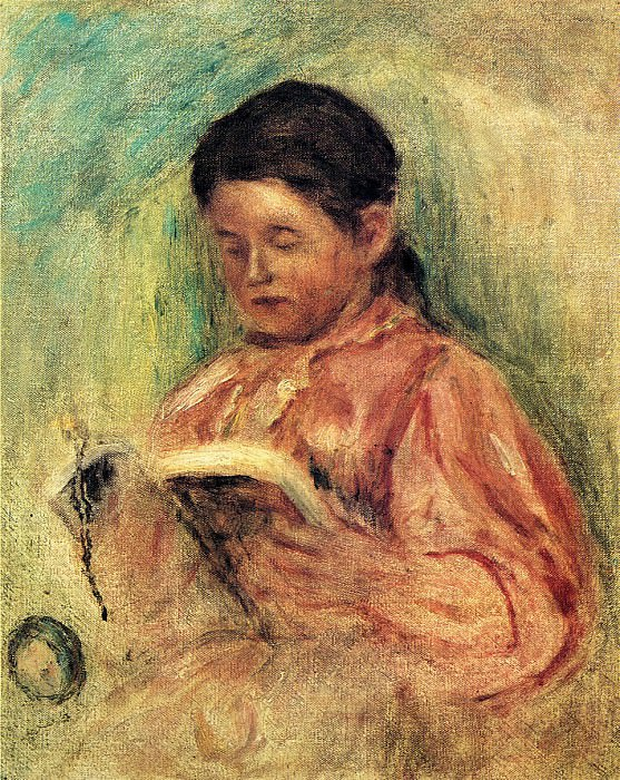 Woman Reading - 1906 - 1909. Пьер Огюст Ренуар