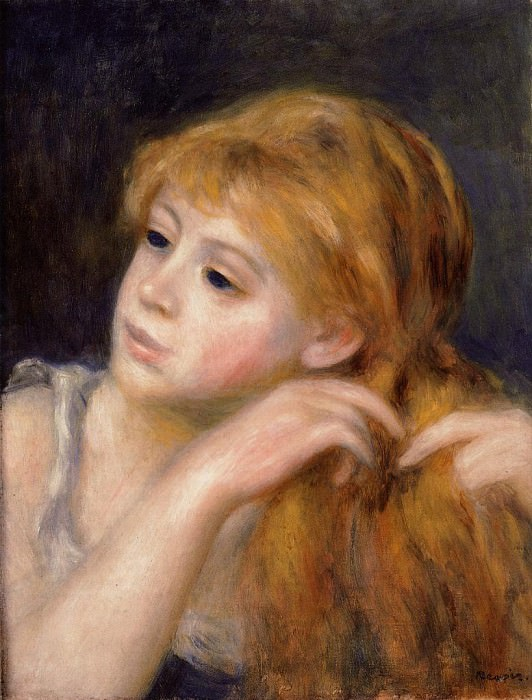 Head of a Young Woman - 1890. Pierre-Auguste Renoir