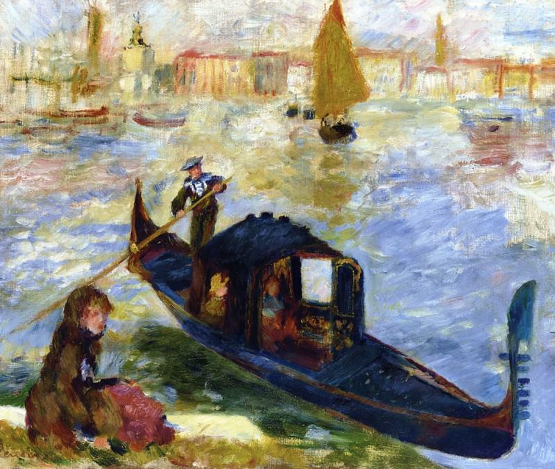 Gondola, Venice -1881. Pierre-Auguste Renoir