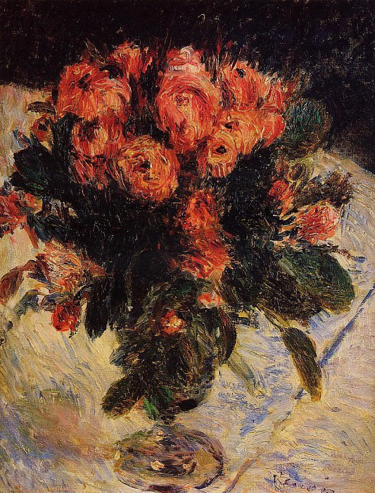 Roses - 1890. Пьер Огюст Ренуар