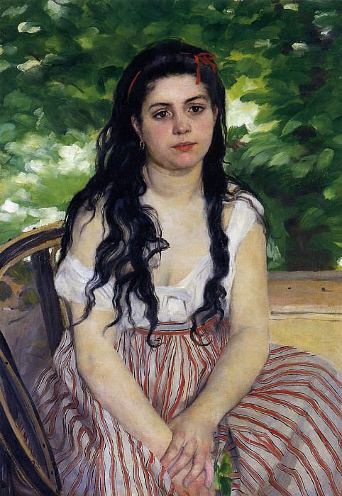 The Gypsy Girl (also known as Summer) - 1868. Pierre-Auguste Renoir