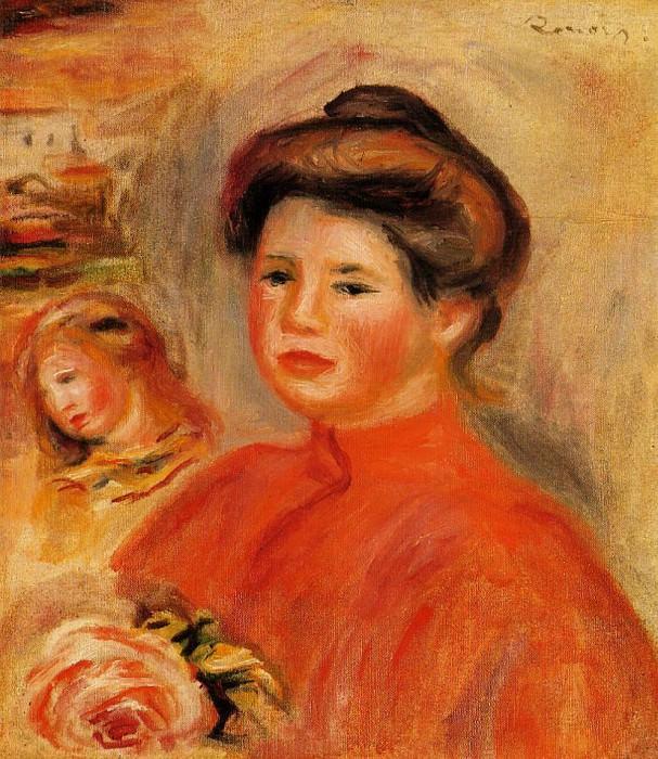 Gabrielle at Her Window - 1907. Пьер Огюст Ренуар