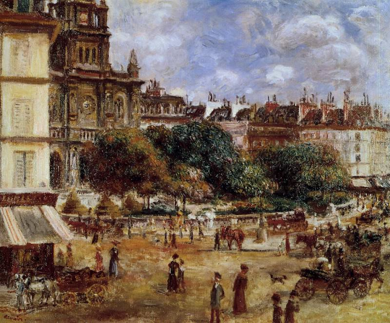 Place de la Trinite, Paris - 1875. Pierre-Auguste Renoir