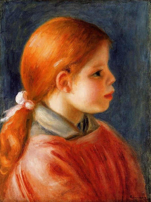 Head of a Young Woman - 1888. Pierre-Auguste Renoir