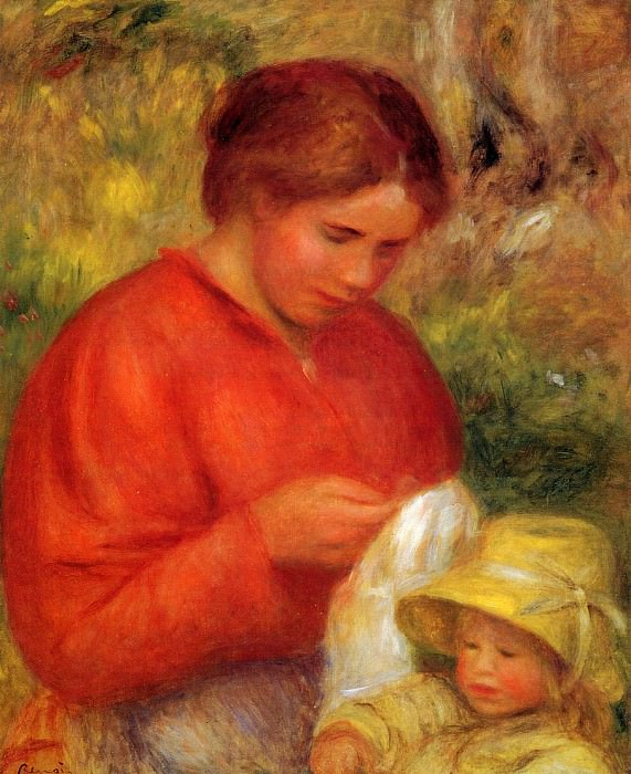 Woman and Child - 1900. Pierre-Auguste Renoir