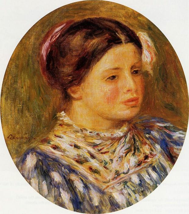 Girl in Blue - 1918. Pierre-Auguste Renoir