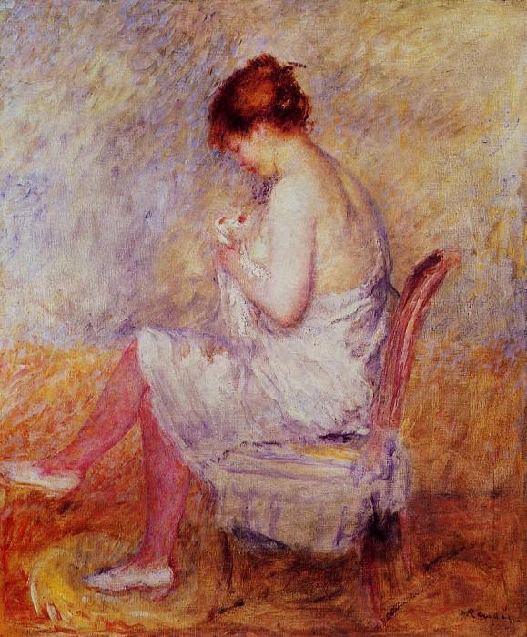Woman in a Chemise - 1897-1898. Pierre-Auguste Renoir