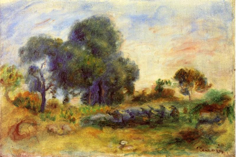 Landscape - 1913. Pierre-Auguste Renoir