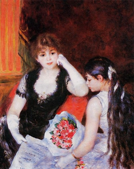 At the Concert (also known as Box at the Opera) - 1880. Pierre-Auguste Renoir