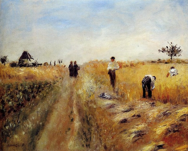 The Harvesters - 1873. Пьер Огюст Ренуар