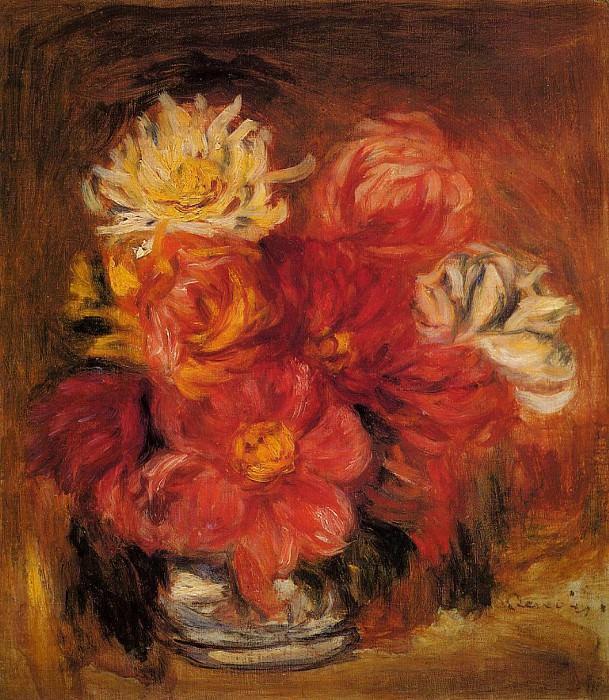 Dahlias - 1890. Pierre-Auguste Renoir