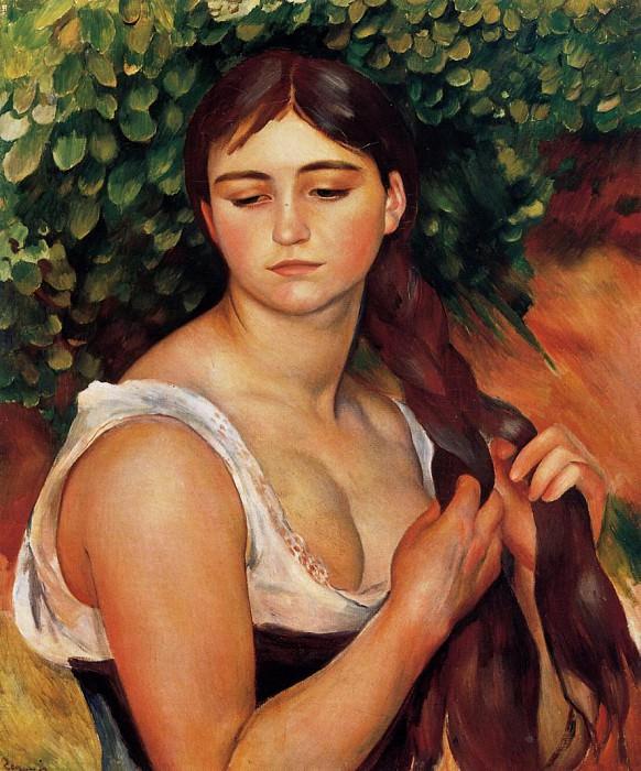 The Braid (also known as Suzanne Valadon) - 1884 - 1886. Pierre-Auguste Renoir